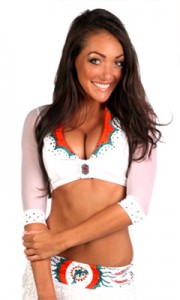 Miami Dolphin Cheerleader launches Sporty Fashion Line!