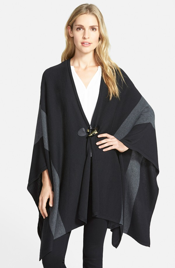 {Michael Kors ColorBlock Blanket Poncho $95.98.}
