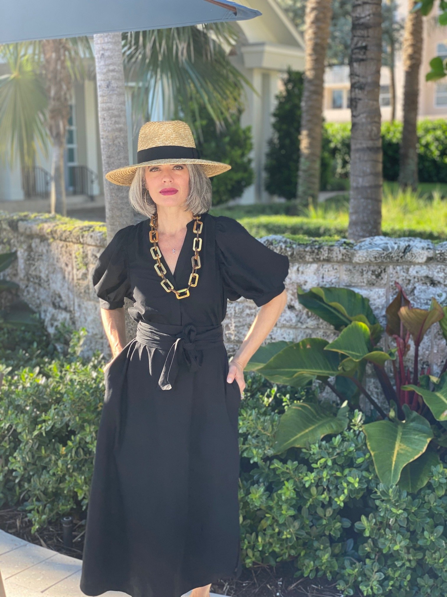 How to Style a Black Linen Dress